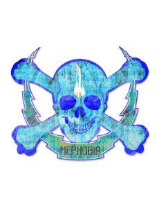 Skull Bolt Mephobia, Man Cave, Plasma, 19 X 16 Inches