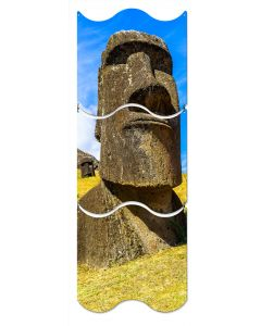 Moai Statue, Travel, Triptych, 12 X 36 Inches