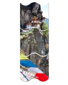 Tigers Nest Monastery, Travel, Triptych, 12 X 36 Inches