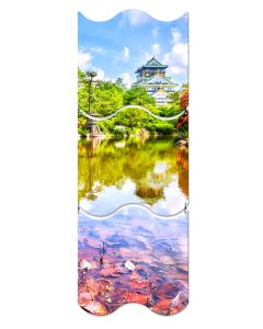 Osaka Castle, Travel, Triptych, 12 X 36 Inches