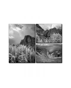 Yosemite Valley, Home and Garden, Triptych, 34 X 24 Inches
