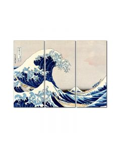 Great Wave, Home and Garden, Triptych, 48 X 36 Inches