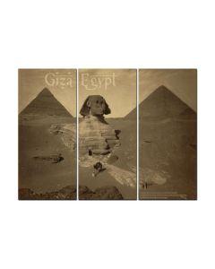 Giza Egypt, Travel, Triptych, 48 X 36 Inches