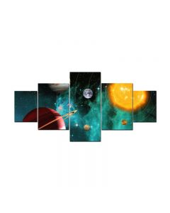 Outer Space Universe, Home and Garden, Triptych, 72 X 36 Inches