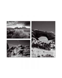 Desert Arches, Home and Garden, Triptych, 34 X 24 Inches