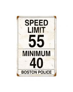 Speed Limit 55, Automotive, Vintage Metal Sign, 16 X 24 Inches