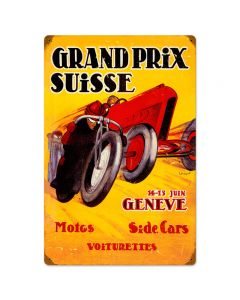 Swiss Grand Prix, Automotive, Vintage Metal Sign, 16 X 24 Inches