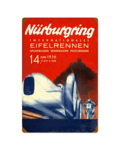 Nurburgring, Automotive, Vintage Metal Sign, 16 X 24 Inches