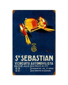 Sebastian Circut, Automotive, Vintage Metal Sign, 16 X 24 Inches