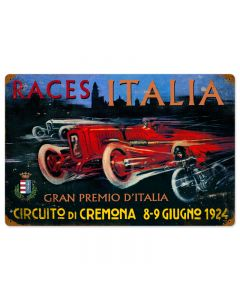 Cremona Circut, Automotive, Vintage Metal Sign, 16 X 24 Inches