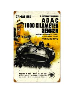 ADAC, Automotive, Vintage Metal Sign, 16 X 24 Inches