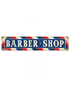 Barber Shop, Home and Garden, Vintage Metal Sign, 28 X 6 Inches