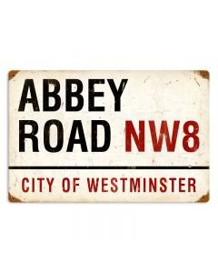 Abbey Road, Street Signs, Vintage Metal Sign, 18 X 12 Inches