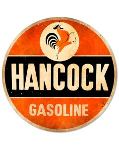 Hancock Old School, Automotive, Round Metal Sign, 14 X 14 Inches