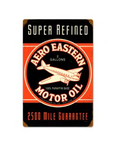 Aero Eastern, Automotive, Vintage Metal Sign, 12 X 18 Inches