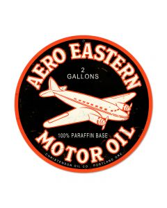Aero Eastern, Automotive, Round Metal Sign, 14 X 14 Inches