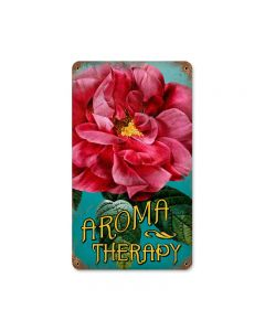 Aroma Therapy, Home and Garden, Vintage Metal Sign, 8 X 14 Inches