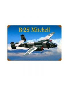 B25 Mitchell, Aviation, Vintage Metal Sign, 18 X 12 Inches