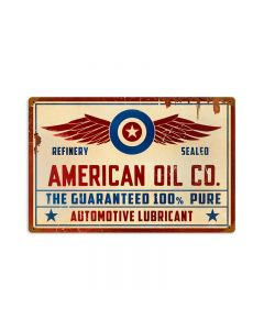 American Oil Co, Automotive, Vintage Metal Sign, 18 X 12 Inches