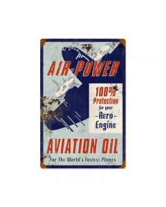 Air Power, Automotive, Vintage Metal Sign, 12 X 18 Inches
