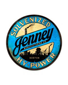 Jenny Hy Power, Home and Garden, Round Metal Sign, 14 X 14 Inches