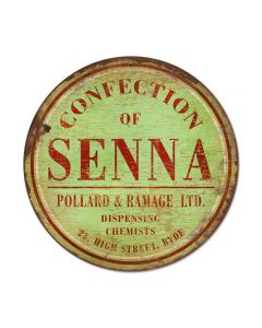 Connection of Senna, Home and Garden, Round Metal Sign, 14 X 14 Inches