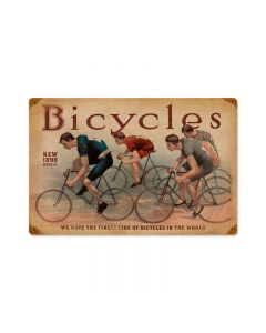Bicycles, Sports and Recreation, Vintage Metal Sign, 18 X 12 Inches