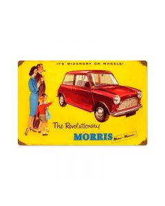 Morris Car, Automotive, Vintage Metal Sign, 18 X 12 Inches