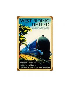 West Railway, Train and Rail, Vintage Metal Sign, 12 X 18 Inches