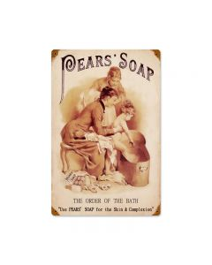 Pears Soap, Home and Garden, Vintage Metal Sign, 12 X 18 Inches