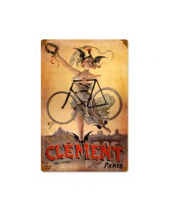Clement Bicycles, Sports and Recreation, Vintage Metal Sign, 12 X 18 Inches
