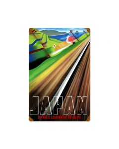 Japan Railways, Train and Rail, Vintage Metal Sign, 12 X 18 Inches