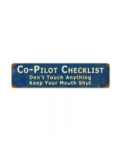 Copilot, Aviation, Vintage Metal Sign, 20 X 5 Inches