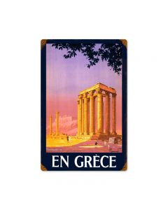Greece, Travel, Vintage Metal Sign, 12 X 18 Inches