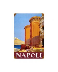Napoli, Travel, Vintage Metal Sign, 12 X 18 Inches