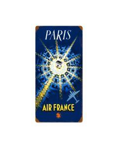 Paris Air France, Travel, Vintage Metal Sign, 12 X 24 Inches