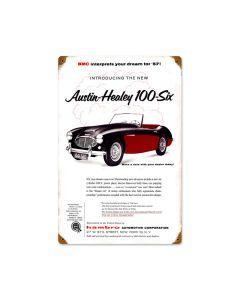 Austin Healey, Automotive, Vintage Metal Sign, 12 X 18 Inches