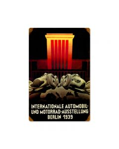 Berlin 1939, Automotive, Vintage Metal Sign, 12 X 18 Inches