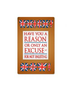 Which Now Enlisting, Automotive, Vintage Metal Sign, 12 X 18 Inches