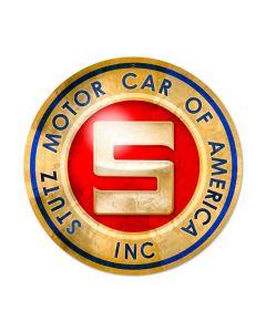 Stutz Motor Car, Automotive, Round Metal Sign, 14 X 14 Inches