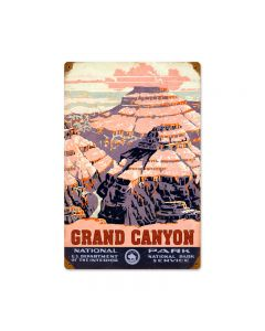 Grand Canyon, Travel, Vintage Metal Sign, 12 X 18 Inches