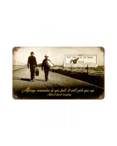 Remember Pick You Up, Humor, Vintage Metal Sign, 14 X 8 Inches