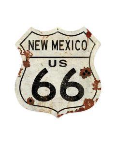 New Mexico US 66 Shield Vintage Plasma, Automotive, Shield Metal Sign, 15 X 15 Inches