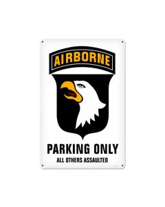 101st Airborne Parking, Allied Military, Metal Sign, 12 X 18 Inches