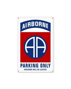 82nd Airborne Parking, Allied Military, Metal Sign, 12 X 18 Inches