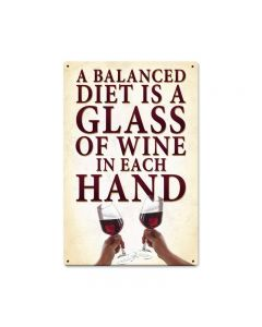 A Balanced Diet, , Vintage Metal Sign, 12 X 18 Inches