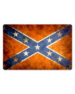 Confederate Flag Vintage, Nostalgic, SATIN METAL SIGN , 18 X 12 Inches