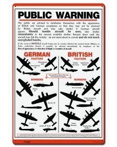 Public Warning, Military, Satin, 16 X 24 Inches