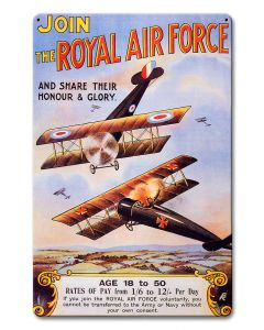 The Royal Air Force, Military, Satin, 12 X 18 Inches
