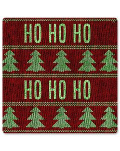 Christmas Sweater Ho Ho Ho, Seasonal, Satin, 12 X 12 Inches